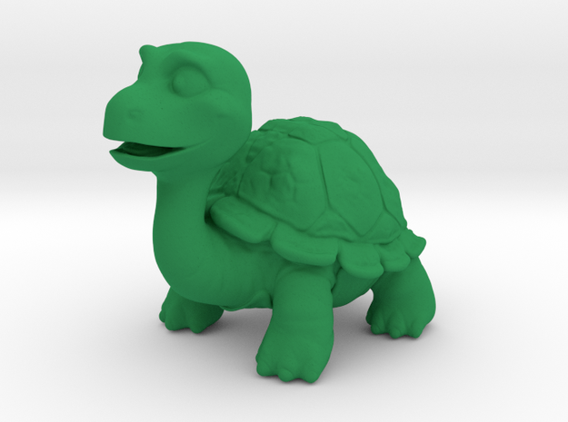 Turty the Turtle in Green Processed Versatile Plastic