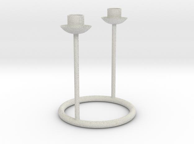 Candlestick for 2 table candles 21-22mm/Kandelaar  in Full Color Sandstone