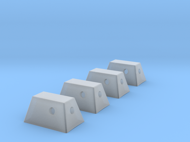 Apollo RCS Housings 1:48- Set of 4 in Smooth Fine Detail Plastic