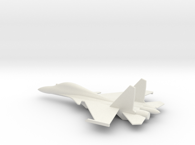 Su-30 Flanker C Russian Jet 1/285 scale in White Natural Versatile Plastic