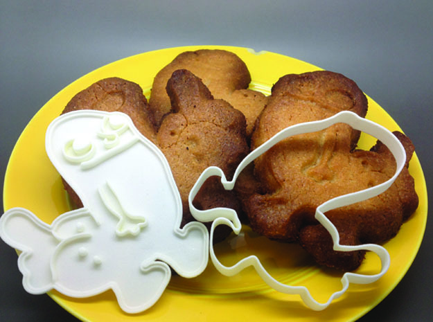 Dickbutt Cookie Cutter in White Processed Versatile Plastic
