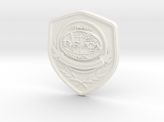 Badge BSAA in White Processed Versatile Plastic