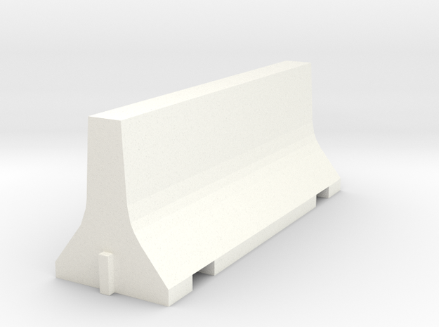 N Scale 8 Foot Jersey Barrier