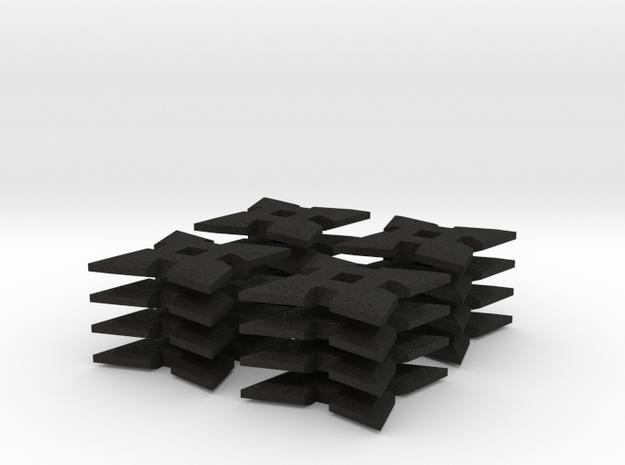 1:6 scale 4 pointed Ninja Star x16 3d printed