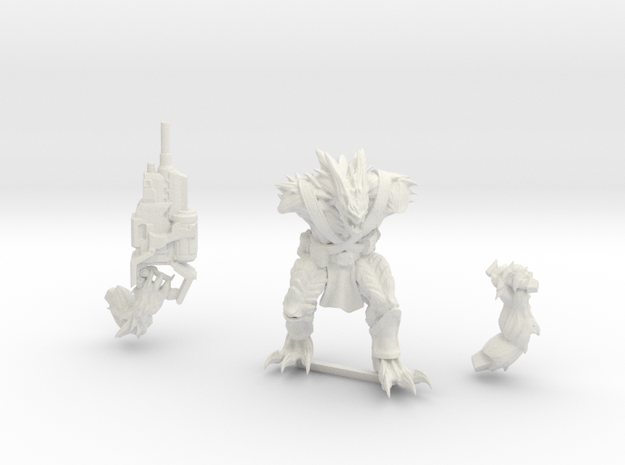 Kurgan with Autocannon in White Strong & Flexible