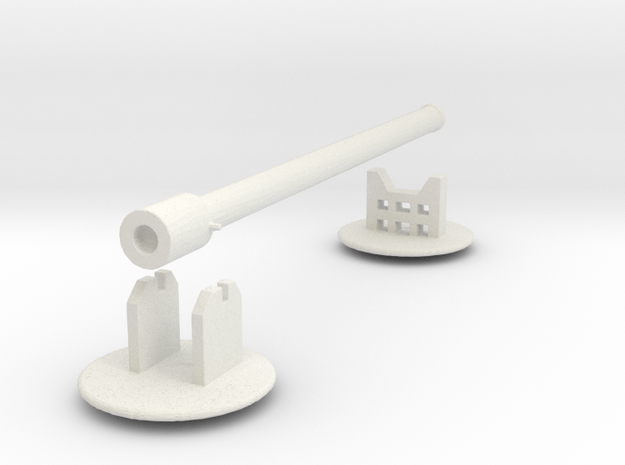 Heavy Artillery, 320mm shells (n-scale) in White Natural Versatile Plastic