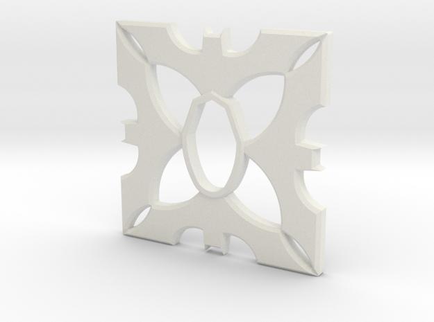 Cold Steel Bokken Tsuba - Batman in White Natural Versatile Plastic