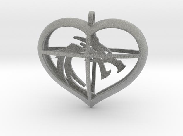 Dragon Heart in Metallic Plastic