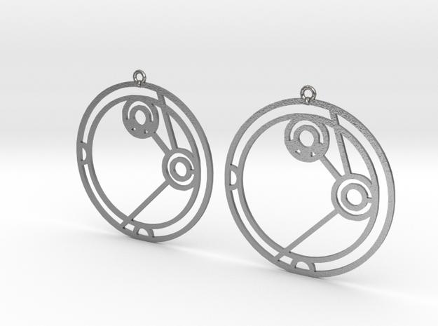 Amelia - Earrings - Series 1 in Raw Silver