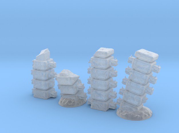 Block Columns (15mm high) in Frosted Ultra Detail