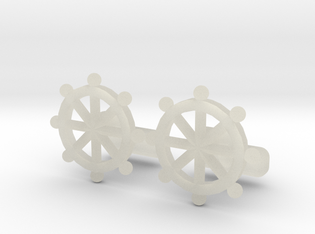Ship Helm Cufflinks, Part of the NEW Nautical Coll in Transparent Acrylic