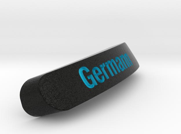Germann Nameplate for SteelSeries Rival in Full Color Sandstone