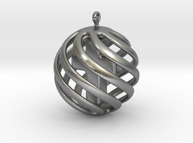 Cross sphere pendant