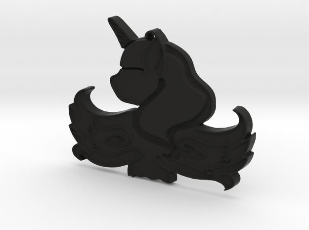 Luna Pendant in Black Strong & Flexible