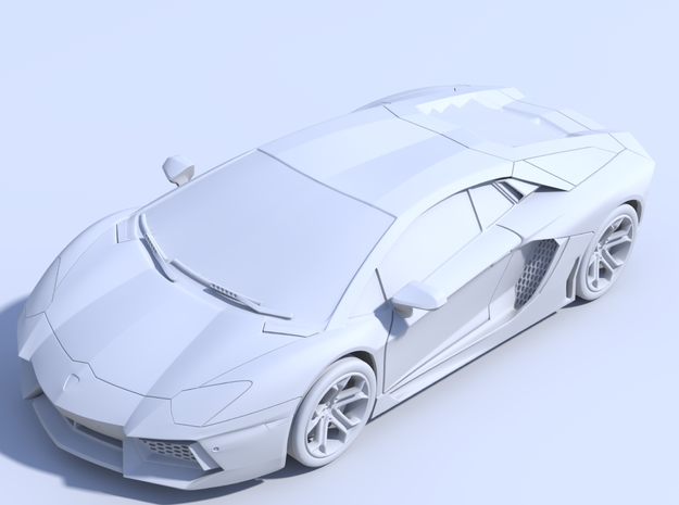 1/87 - Solid: Lamborghini Aventador (HO-Scale) in Smooth Fine Detail Plastic