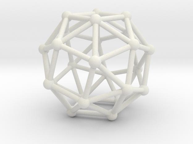 Snub Cube (right-handed) in White Natural Versatile Plastic