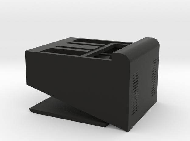 DIY Dock: Fits Any Phone in Black Natural Versatile Plastic