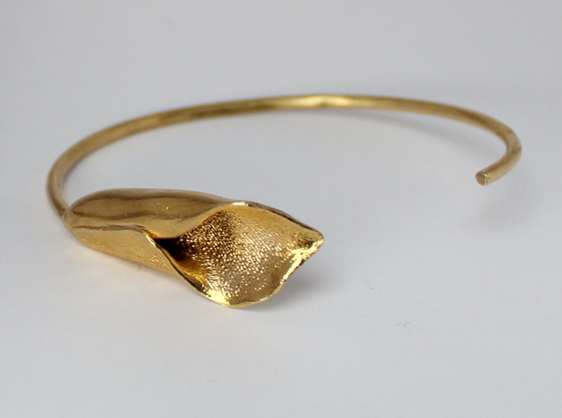 Lilly Bracelet Large in Raw Brass