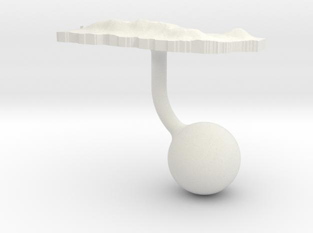 Puerto Rico Terrain Cufflink - Ball in White Natural Versatile Plastic