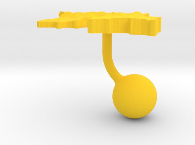 Tajikistan Terrain Cufflink - Ball 3d printed