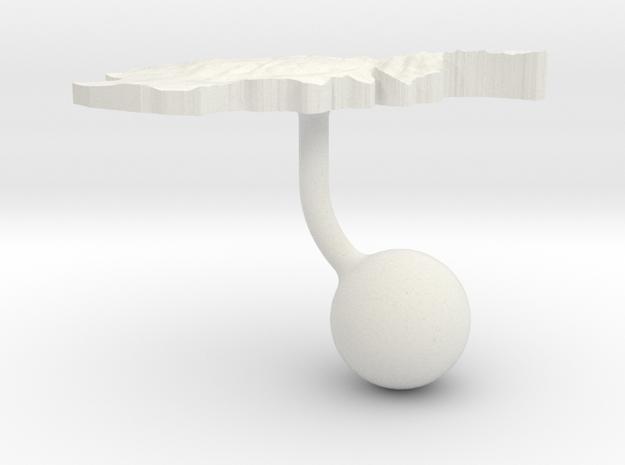 Afghanistan Terrain Cufflink - Ball in White Natural Versatile Plastic