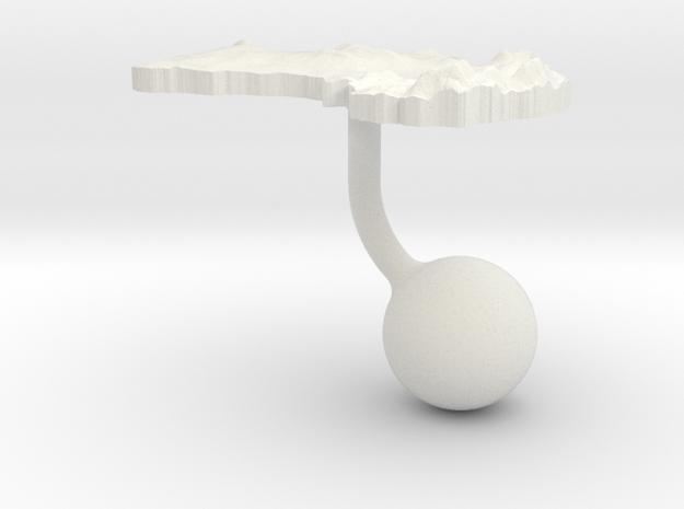 Australia Terrain Cufflink - Ball 3d printed