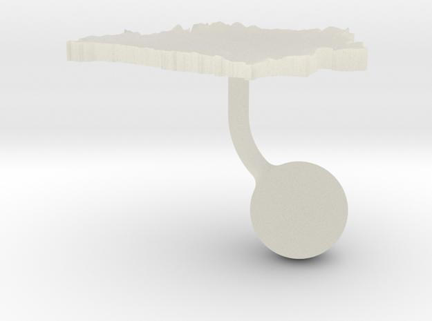 Belarus Terrain Cufflink - Ball in Transparent Acrylic