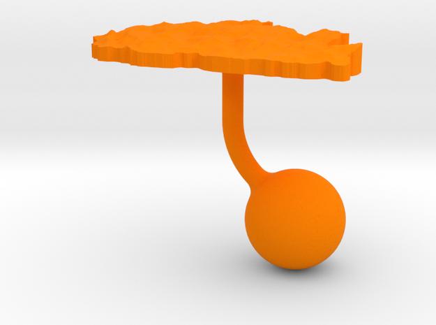 Bhutan Terrain Cufflink - Ball 3d printed