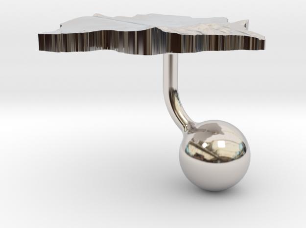 Botswana Terrain Cufflink - Ball 3d printed