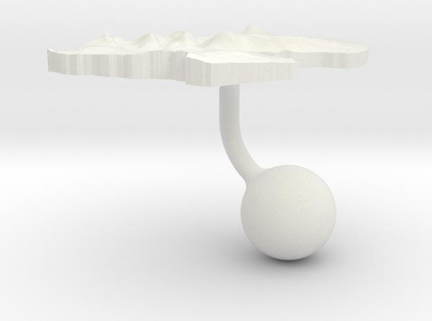 Djibouti Terrain Cufflink - Ball in White Natural Versatile Plastic