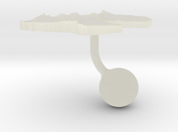 Djibouti Terrain Cufflink - Ball in Transparent Acrylic