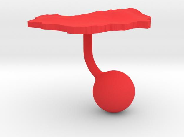 Indonesia Terrain Cufflink - Ball 3d printed