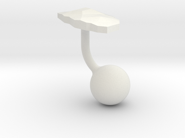 Aruba Terrain Cufflink - Ball in White Natural Versatile Plastic