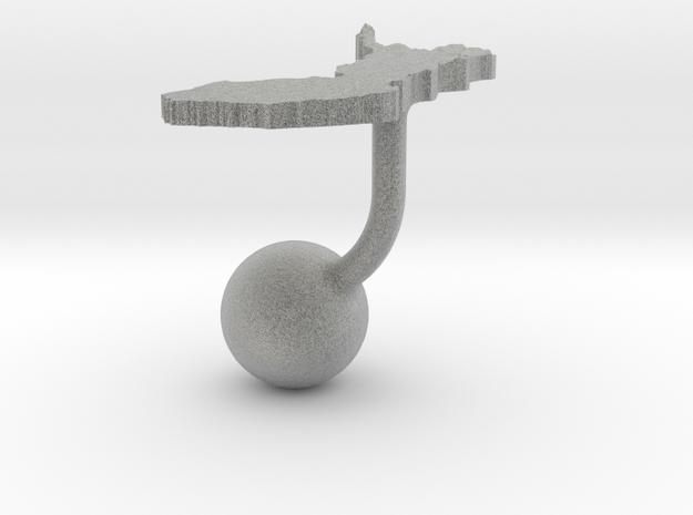 Finland Terrain Cufflink - Ball 3d printed