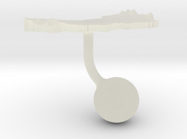 Oman Terrain Cufflink - Ball in Transparent Acrylic
