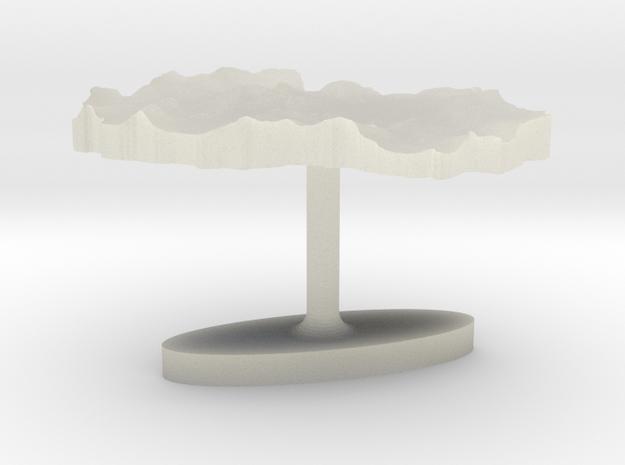 Macedonia Terrain Cufflink - Flat in Transparent Acrylic