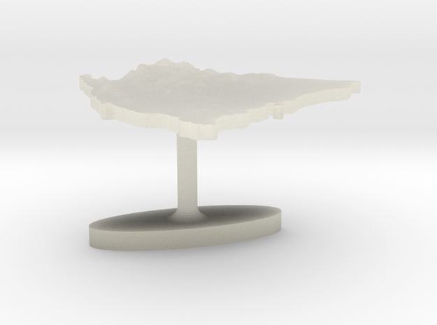 Nicaragua Terrain Cufflink - Flat 3d printed
