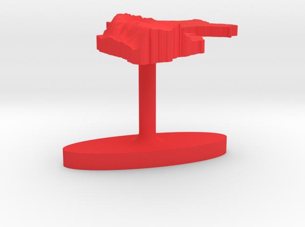 Peru Terrain Cufflink - Flat 3d printed