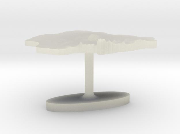 Nigeria Terrain Cufflink - Flat in Transparent Acrylic