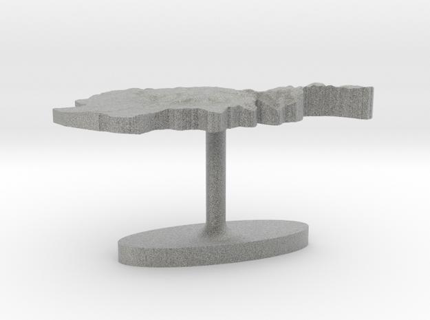 Afghanistan Terrain Cufflink - Flat 3d printed