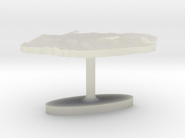 South Africa Terrain Cufflink - Flat in Transparent Acrylic