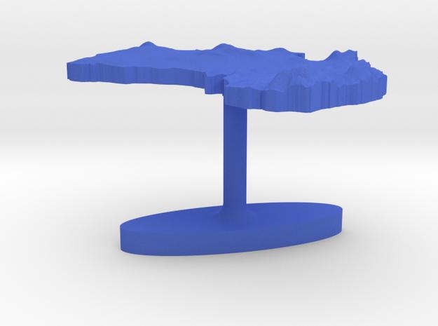 Australia Terrain Cufflink - Flat 3d printed