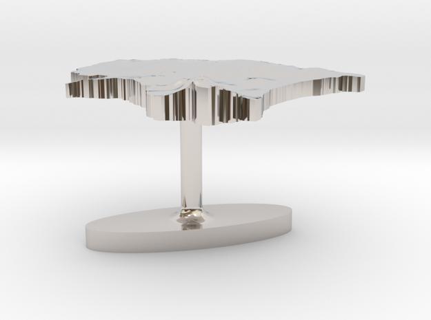 Estonia Terrain Cufflink - Flat 3d printed