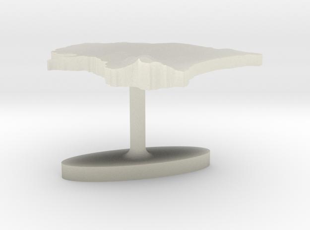 Estonia Terrain Cufflink - Flat in Transparent Acrylic