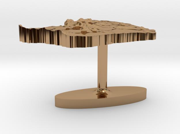 French Guiana Terrain Cufflink - Flat 3d printed