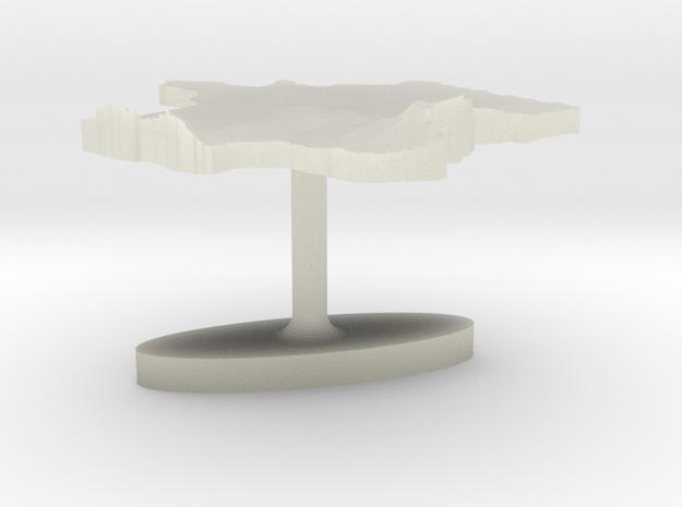 France Terrain Cufflink - Flat 3d printed