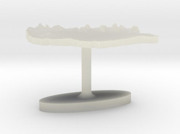 Hungary Terrain Cufflink - Flat in Transparent Acrylic