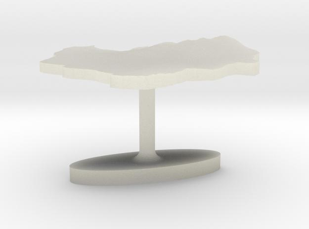 Indonesia Terrain Cufflink - Flat in Transparent Acrylic