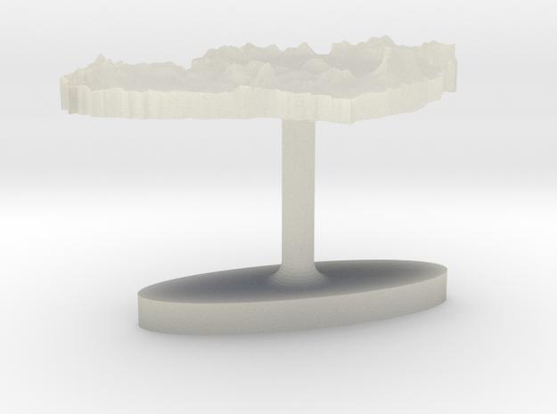 Ireland Terrain Cufflink - Flat 3d printed