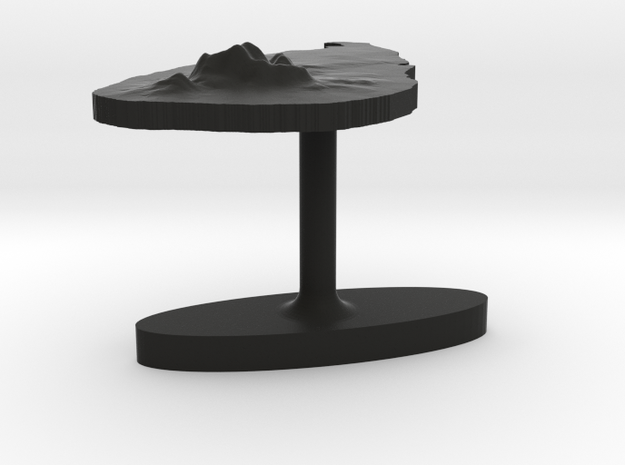Sri Lanka Terrain Cufflink - Flat 3d printed